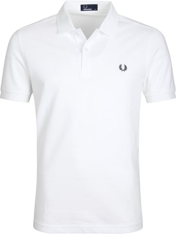 Fred Perry Poloshirt Wit