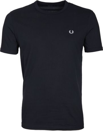 Fred Perry Ringer Shirt Dark Navy