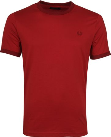 Fred Perry Ringer Shirt Rich Red