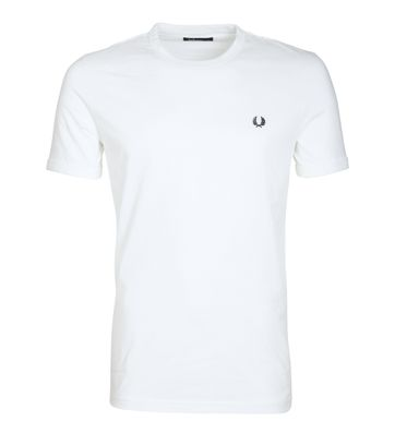 Fred Perry Ringer Shirt White