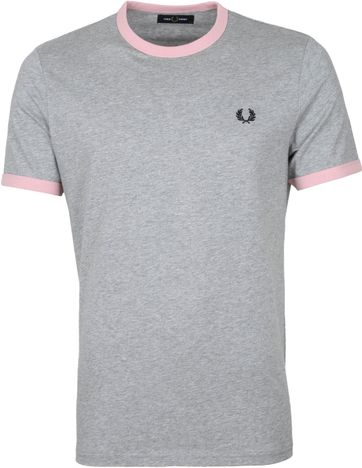 Fred Perry Ringer T-Shirt Anthrazit
