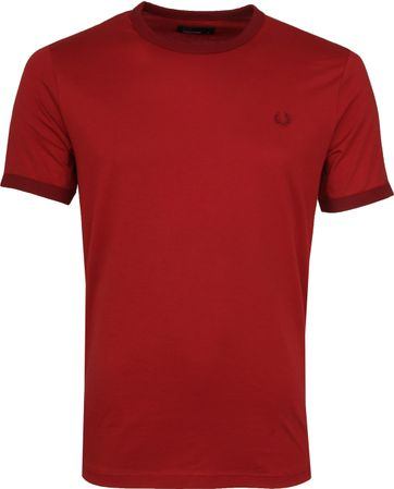 Fred Perry Ringer T-Shirt Rich Rood