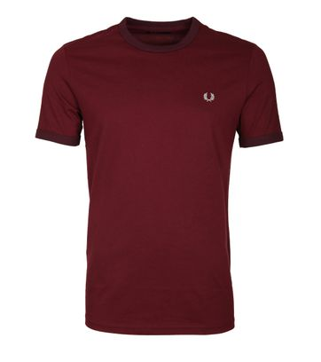 Fred Perry Ringer T-Shirt Rood