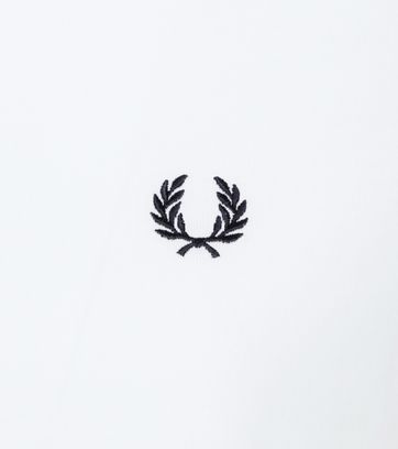 Fred Perry Ringer T-Shirt Wit