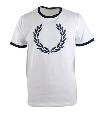 Fred Perry Shirt Wit