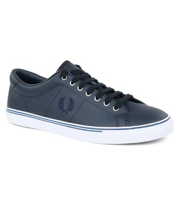 Fred Perry Sneaker Leer Navy