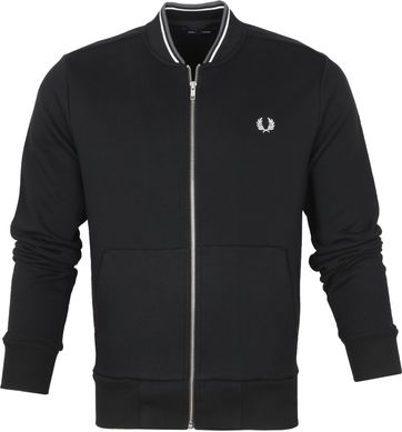 Fred Perry Strickjacke Zip Schwarz
