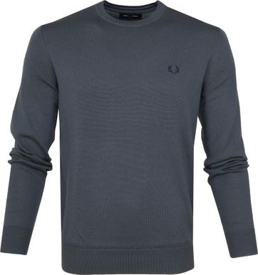 Fred Perry Sweater Classic Merino Antraciet