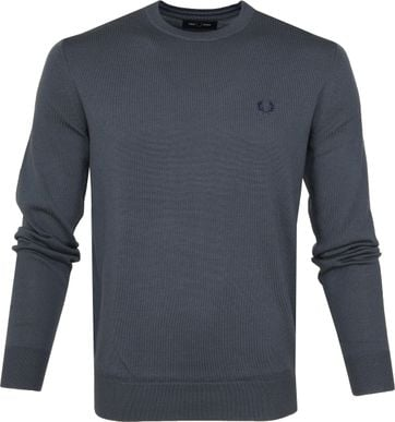Fred Perry Sweater Classic Merino Grey