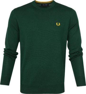 Fred Perry Sweater Classic Merino Groen