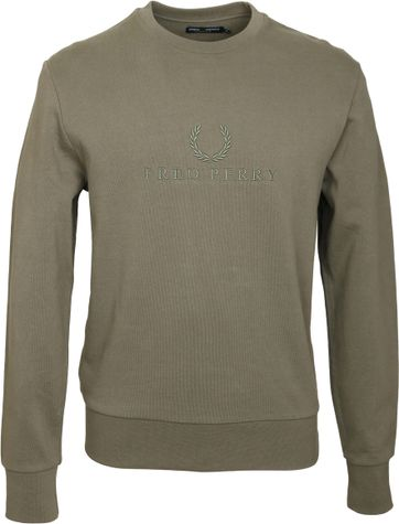 Fred Perry Sweater Groen