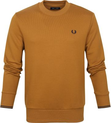 Fred Perry Sweater Logo Hellbraun