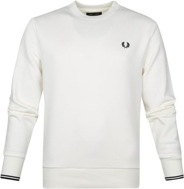 Fred Perry Sweater Logo M7535 Weiss
