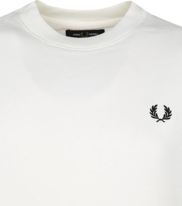 Fred Perry Sweater Logo M7535 White