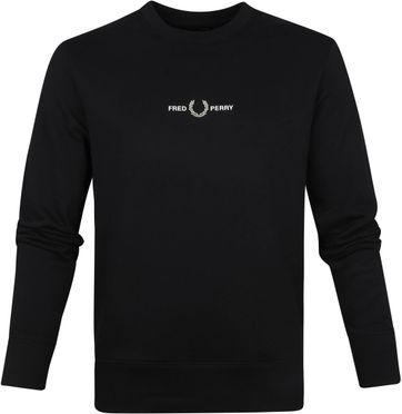 Fred Perry Sweater Logo Zwart