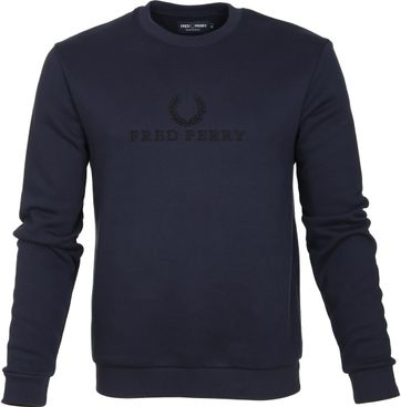 Fred Perry Sweater Navy Logo