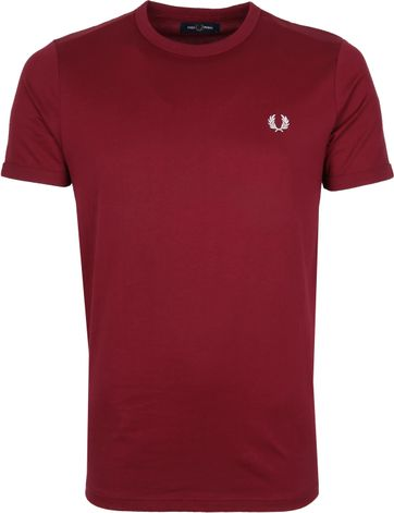 Fred Perry T-Shirt Bordeaux M3519