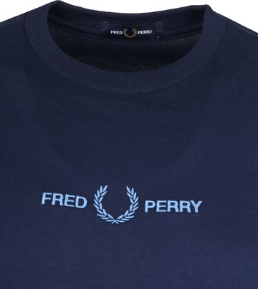 Fred Perry T-Shirt Donkerblauw M8621