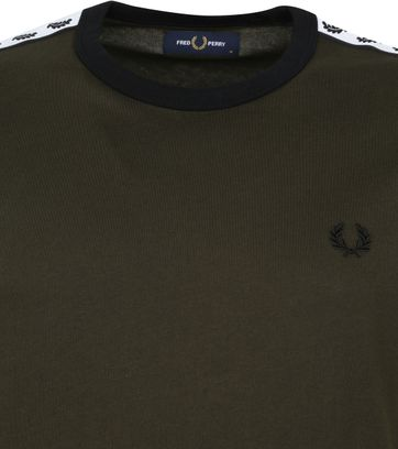 Fred Perry T-Shirt Donkergroen M6347