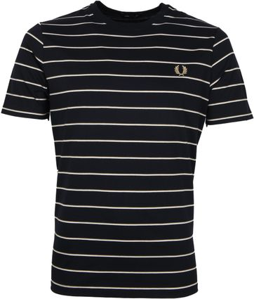 Fred Perry T-Shirt Dunkelblau Streifen