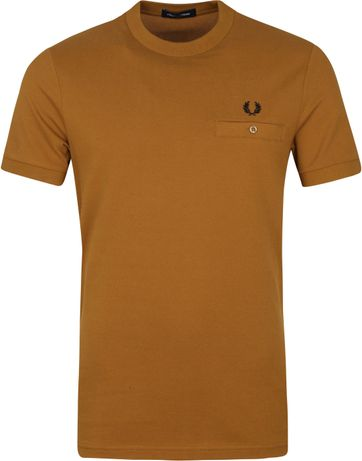 Fred Perry T-Shirt Hell Braun M8531