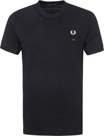 Fred Perry T-Shirt Schwarz M8531