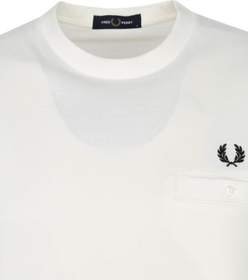 Fred Perry T-Shirt Wit M8531