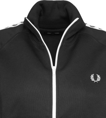Fred Perry Taped Jacket Schwarz