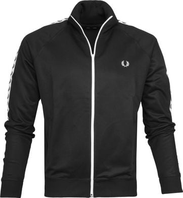 Fred Perry Taped Jacket Zwart