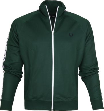 Fred Perry Taped Track Ivy Jacket Green