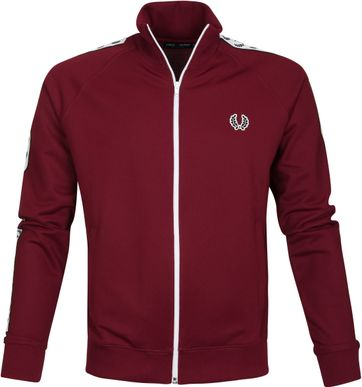 Fred Perry Taped Track Jacket Bordeaux