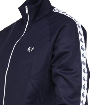 Fred Perry Taped Track Jacket Dark Blue