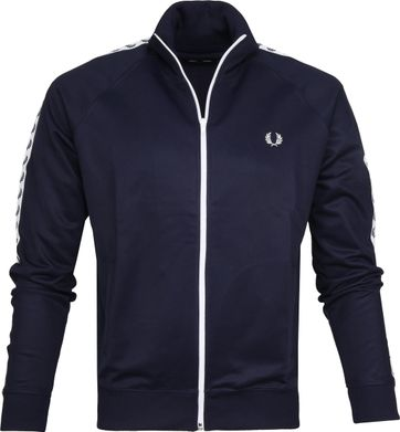 Fred Perry Taped Track Jacket Dunkelblau