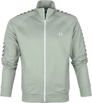 Fred Perry Taped Track Jacket Green