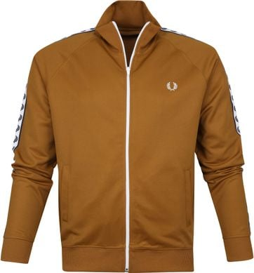 Fred Perry Taped Track Jacket Hellbraun