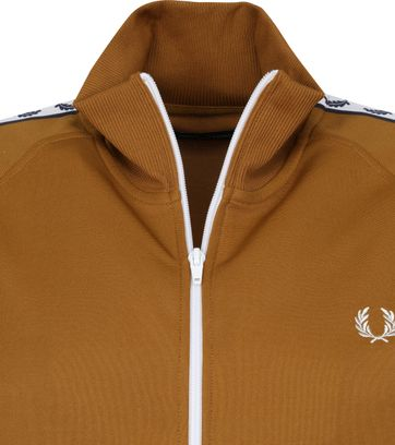 Fred Perry Taped Track Jacket Licht Bruin