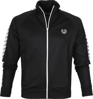 Fred Perry Taped Track Jacket Schwarz