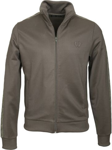 Fred Perry Tonal Track Jacket Green