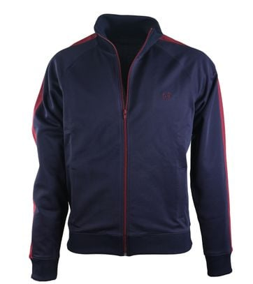 Detail Fred Perry Track Jacket Carbon Blue