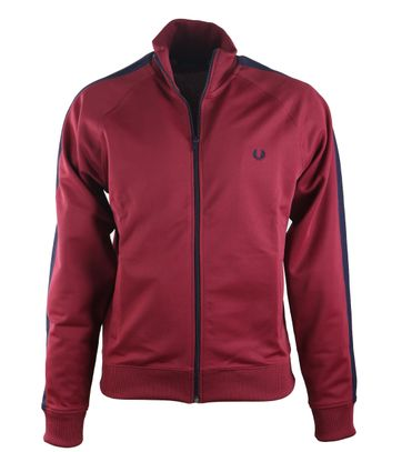 Fred Perry Track Jacket Maroon