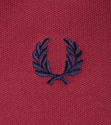 Detail Fred Perry Track Jacket Maroon