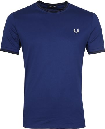 Fred Perry Twin Tipped T-shirt Blau