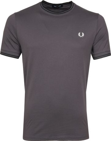 Fred Perry Twin Tipped T-shirt Grau
