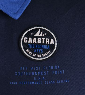 Detail Gaastra Pirate Poloshirt Donkerblauw