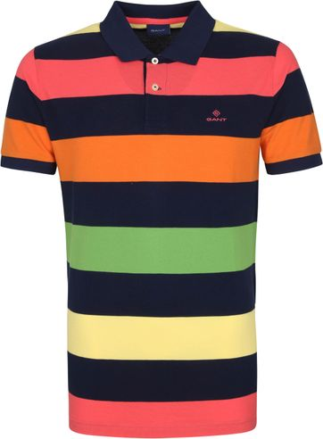 Gant Barstripe Polo Shirt Multicolour