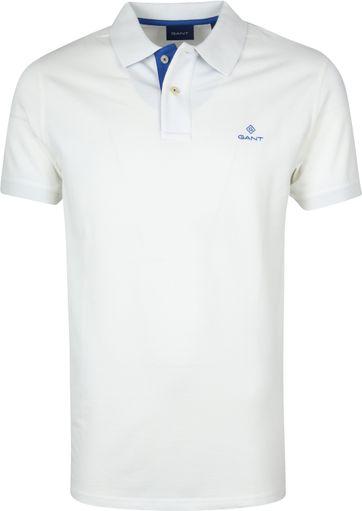 Gant Basic Polo Gebrochenes Weiß