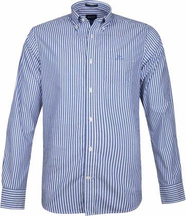 Gant Broadcloath Hemd Streifen Blau