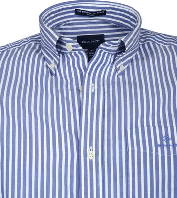 Gant Broadcloath Overhemd Strepen Blauw