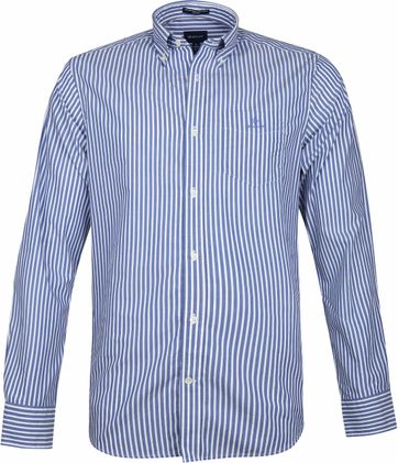 Gant Broadcloath Shirt Stripes Blue