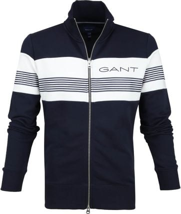 Gant Cardigan Stripes Dark Blue
